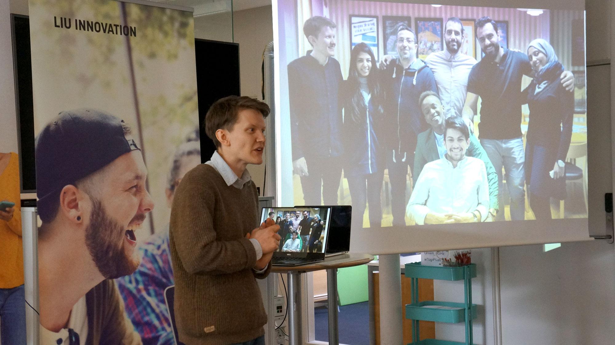 Mattias Lind från föreningen Bred Blick