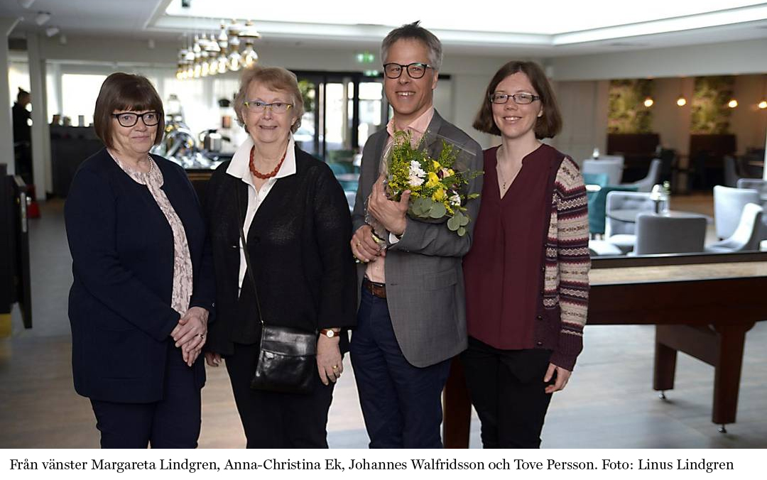 Från vänster Margareta Lindgren, Anna-Christina Ek, Johannes Walfridsson och Tove Persson. Foto: Linus Lindgren